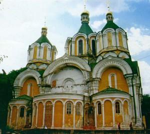 Успенский собор во время реставрации