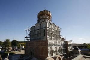 Строящийся храм великомученика Георгия Победоносца в с. Долина.