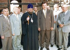 Руководство Донецкой области на строительной площадке Спасо-Преображенского кафедрального собора