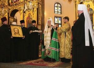 Икона Христа Спасителя - дар Святейшего Патриарха Кирилла