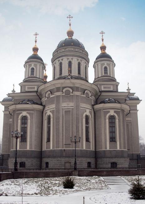 Вид на алтарную часть Спасо-Преображенского кафедрального собора